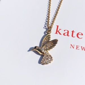 NWT Authentic Kate Spade Hummingbird Necklace Gold